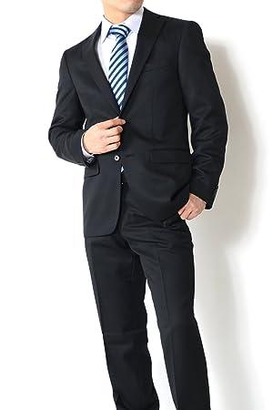 OUTLET FACTORY オールシーズン【リクルートにも最適!洗えるスラックス】 スマートモデル ブラック 無地 Y体 A体 AB体 BB体 2ボタンスーツ メンズスーツ