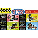 """Hawk Weird-Ohs Car-Icky-Tures """"Davey"""", Drag Hag, Freddy Flameout & Huey's Hot Rod Wacky Monster Models Gift Set Bundle - 4 Pack"""
