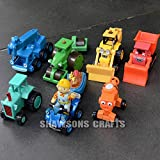 Learning Curve Bob the Builder Diecast Toys 7 Pcs of Vehicle Figures Lot
