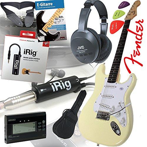 fender-squier-bullet-strat-guitare-electrique-dans-arctic-white-blanc-irig-interface-pour-guitare-ip