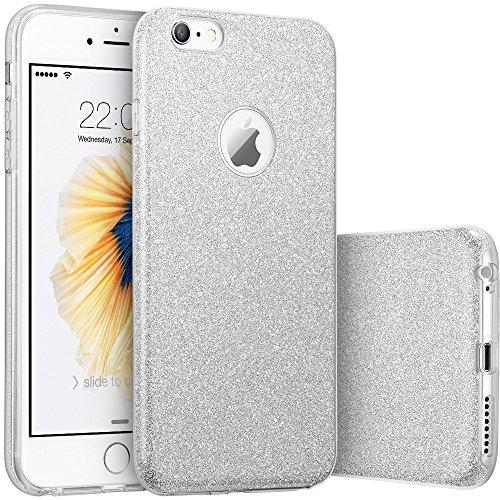 honeststar® Cover Posteriore Per Apple iPhone 66S 4,7ultra sottile [Shock-Absorption] Bumper in TPU custodia glitterata sottile custodia morbida in silicone schermo (Oro)