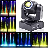 Stage Lighting Moving Head Light LED Spot 4 Color RGBW Gobos with Magical Circle 50W DMX for DJ Disco Party Lights by U`King (Color: Black 1 pack, Tamaño: mini stage light)