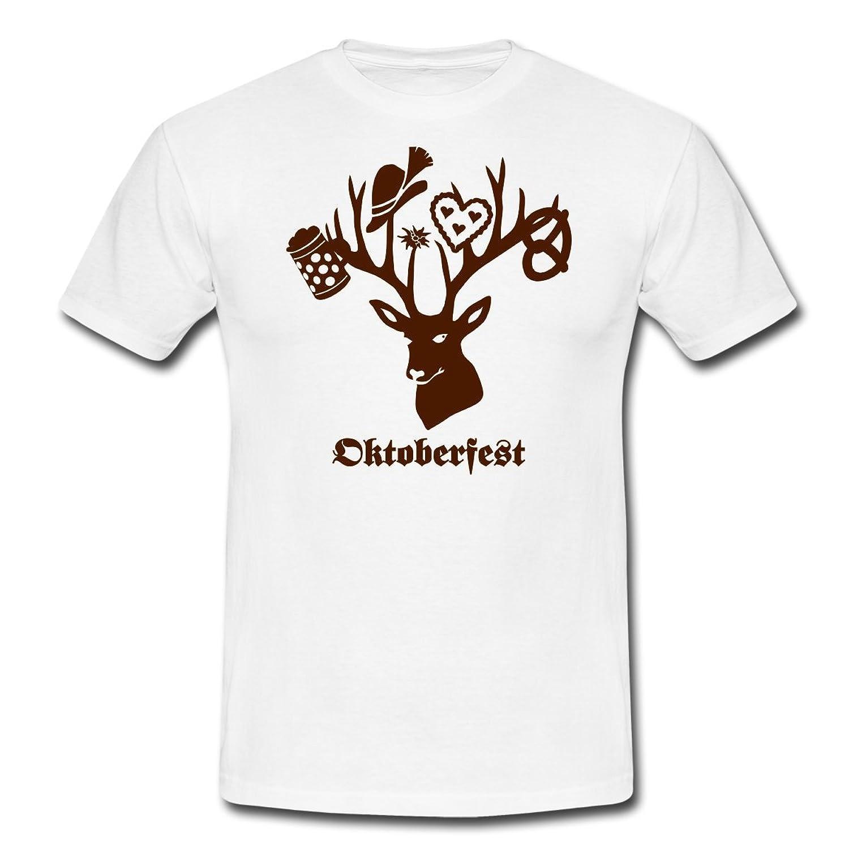 Spreadshirt Herren Oktoberfest Hirsch T-Shirt online kaufen