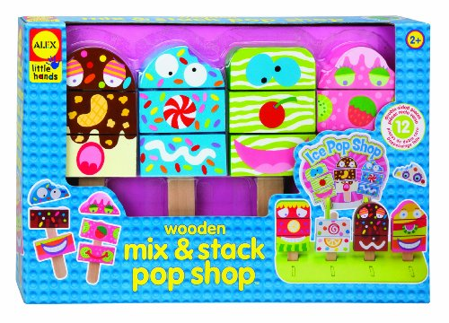 ALEX Toys Little Hands Wooden Mix & Stack Pop Shop