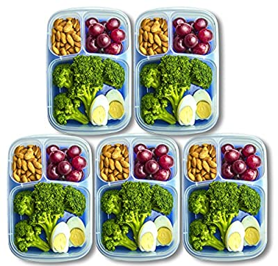 Orgalif Lunch Containers for kids 3-Comparment Reusable Plastic Bento Lunch Box (1 Piece) from ORGALIF