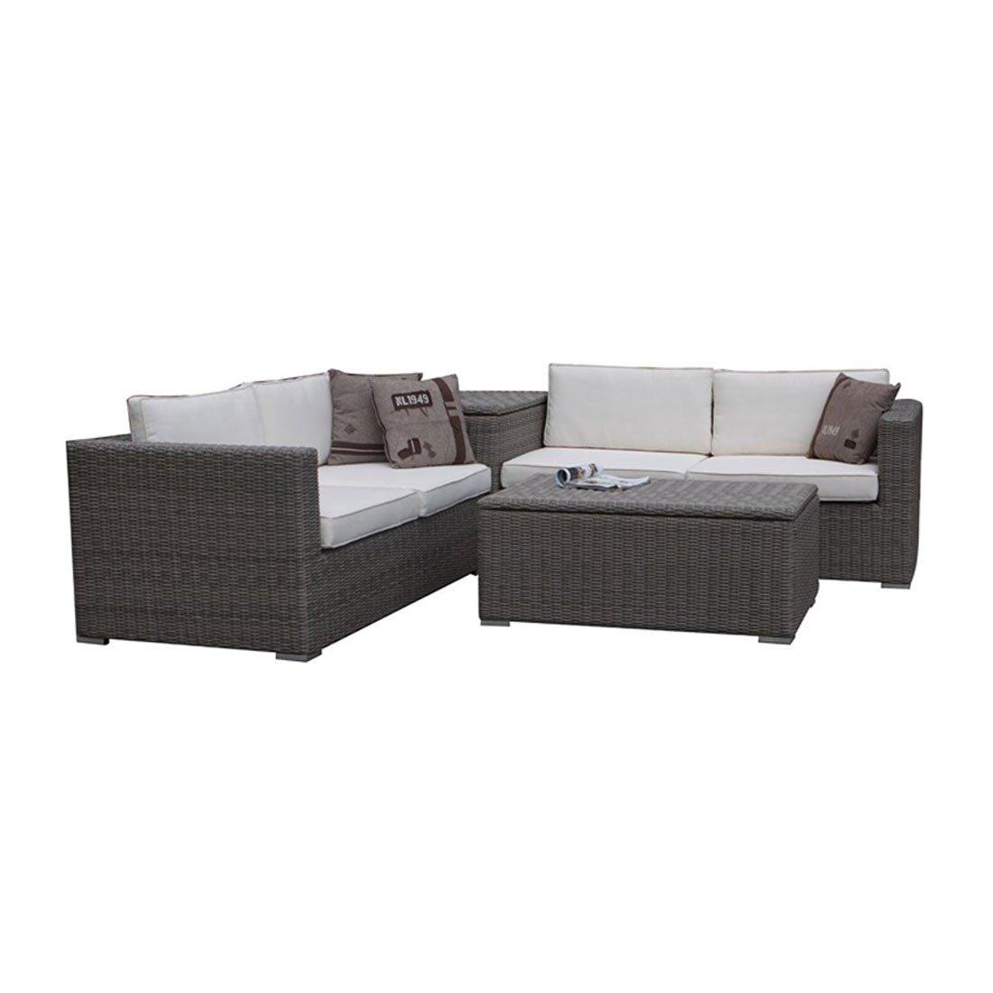 Gartenlounge OUTLIV. Saba Loungegruppe 4-teilig Geflecht grau 712801-806039 jetzt kaufen
