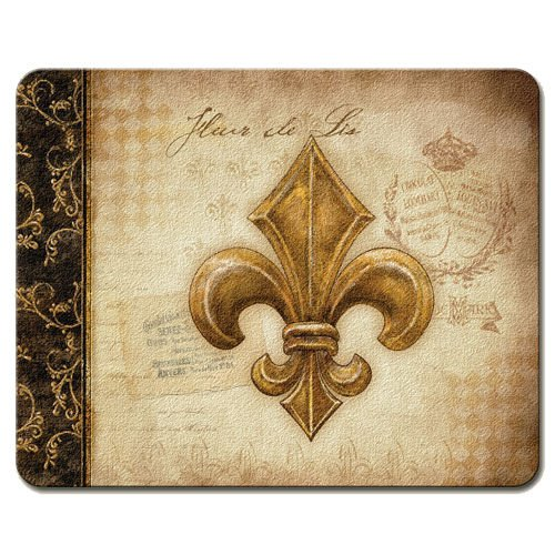 Vintage Lily of the Valley Fleur De Lis 10 x 8-inch Tempered Glass Cutting Board