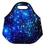 The starry sky Kids Insulated Soft Lunch box Neoprene Food Bag lunchbox Cooler warm Pouch Tote Handbag for school work office