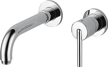 Delta Faucet 3559LF-WL Trinsic, Wall Mount Lavatory Faucet, Chrome