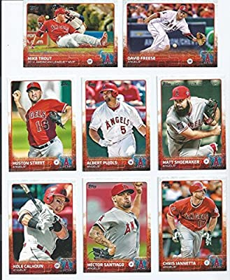 Los Angeles Angels of Anaheim 2015 Topps MLB Baseball Regular Issue 19 Card Team Set with Mike Trout, Albert Pujols Plus