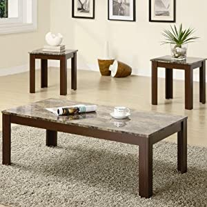Astonishing 3 Coaster Fine Furniture 700395 3 Piece Coffee Table And Short Links Chair Design For Home Short Linksinfo