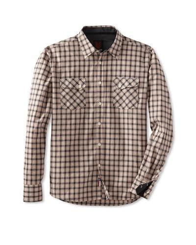 one90one Men's Dean Double Pocket Plaid Shirt