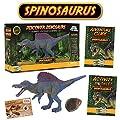 Spinosaurus Action Figure - Includes Real Dinosaur Bone Fossil!