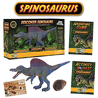 Spinosaurus Action Figure - Includes Real Dinosaur Bone Fossil!