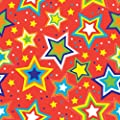 Jillson Roberts 1/4 Ream Recycled Gift Wrap, Celebrate Starry Red, 208-Feet x 30-Inch (B115.25)