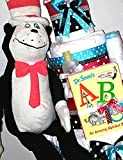 Dr Seuss Red and Black Cat in the Hat Four Tier Diaper Cake Baby Shower Centerpiece or Gift By Little Kg's Dreams