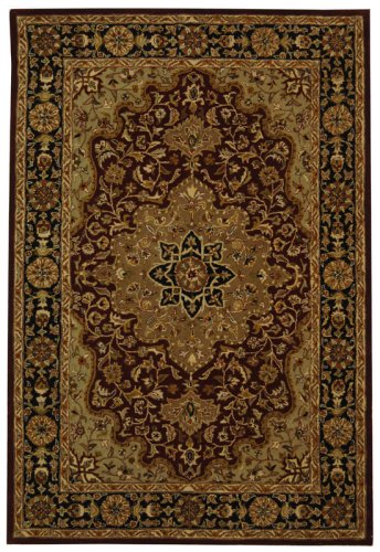 Safavieh Heritage Collection HG760B Handmade Red and Black Wool Area Rug, 2 feet by 3 feet (2' x 3')