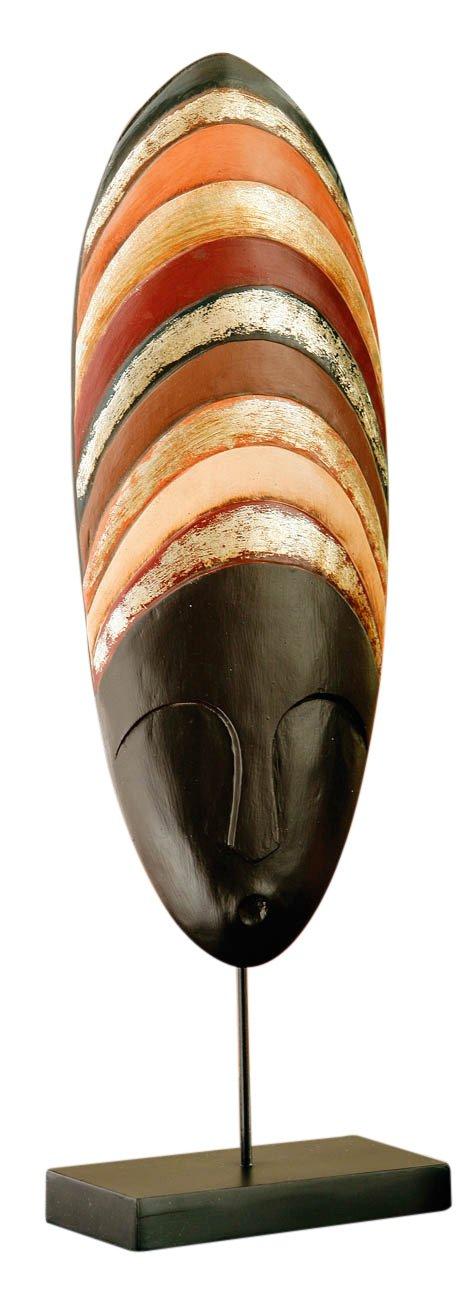 Premier Housewares - Escultura decorativa de madera en soporte negro (53 x 16 x 9 cm), diseño de cara de mujer étnica   más noticias y comentarios