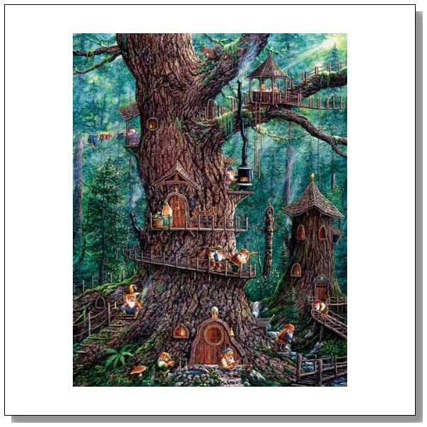 SusnOut Jeff Tift Forest Gnomes Puzzle - 1000 Pieces