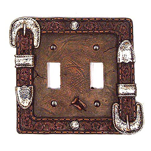 Western Buckle Toggle Light Switch Plate Cover (Double