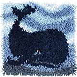 Wonderart Latch Hook Kit 12X12 Big Blue Whale