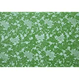 BDPP SILVER AND GREEN PRINT ON WHITE BASE PREMIUM WRAPPING PAPERS (PACK OF 10)