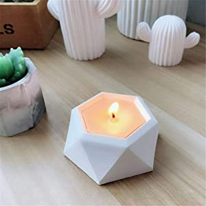 Oyov2L 3D Rounded Shape DIY Silicone Concrete Plant Flower Pot Vase Candle Holder Mold Hand-Made Silicone Candle and Soap Bottle Mold