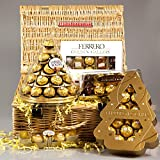 Ferrero Rocher Golden Gallery Luxury Christmas Hamper - Cone, Golden Gallery Box, Rocher Xmas Tree and Collection - By Moreton Gifts