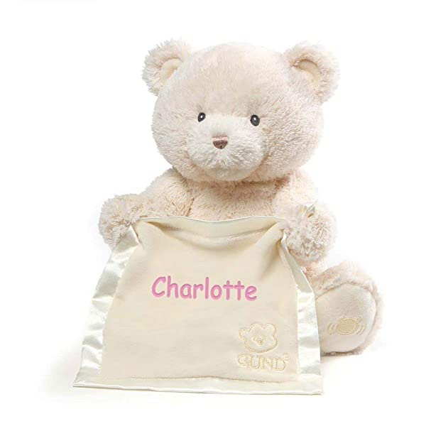 Personalized Peek A Boo Plush Toy (Cream Peek A Boo Bear) (Color: Cream Peek A Boo Bear)