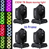 US stock 4pcs Touch Screen 230W 7R beam moving head Light 16prism For DJ Stage Lighting