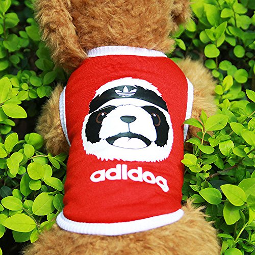 Ollypet Sport Style Pet Vest Adidog Style Shirt Dog Face Print Outfit for Dogs