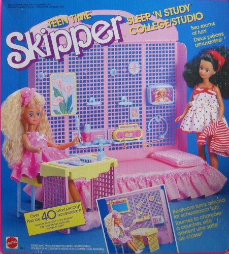 Barbie TEEN TIME SKIPPER Sleep 'n Study College / Studio Playset - 40+ Pieces (1988 From Canada)