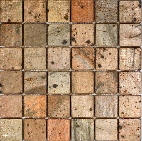Epoch Tile CO2X2 2x2 Copper Tumbled Slate