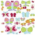 Wallies 15218 Jenny's Butterflies Wallpaper Mural, 2-Sheet