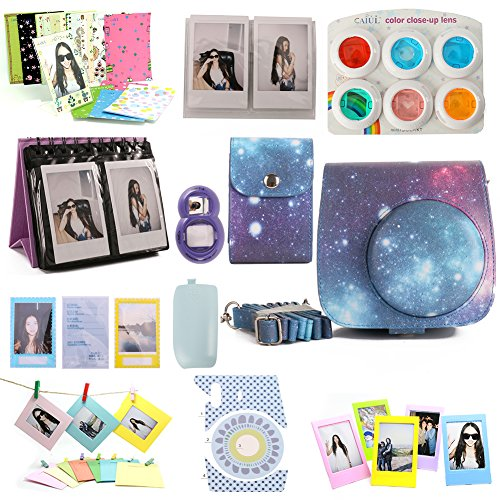 Nodartisan 12 in 1 Instax Mini 8/8+ Accessory Bundles (Galaxy Mini 8 Case/Photo Case/Album/Hang Album/Lens/Filters/Film Frames/Hang Frames/Film Sticker/Camera Sticker/Battery Cover/Film Pouch) (Mini Instax 8 Grape Kit compare prices)