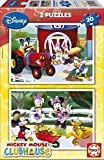 Educa 15290 Puzzle 2x 20 Mickey Mouse Club House