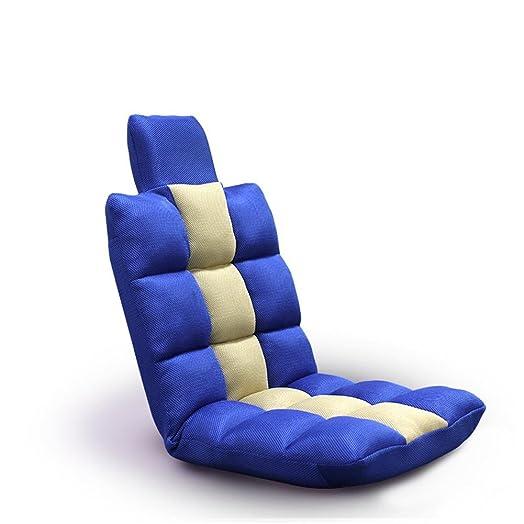 Lazy sofa Panno Sedia a sdraio flottante Sedia pieghevole Poggiatesta Piccola taglia Tatami Divano piccolo sedia Balcone sedia a rotelle galleggiante Sedia da finestra galleggiante , blue