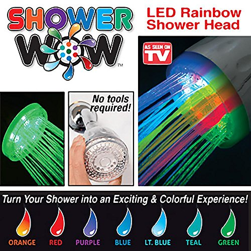 Shower Wow  	L2S-SW LED Rainbow Shower Head