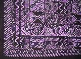 Overprint Batik Tapestry-Bedspread-Beach-Picnic-Purple