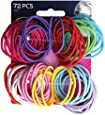 Goody Ouchless No Metal Gentle Elastics, 72pk
