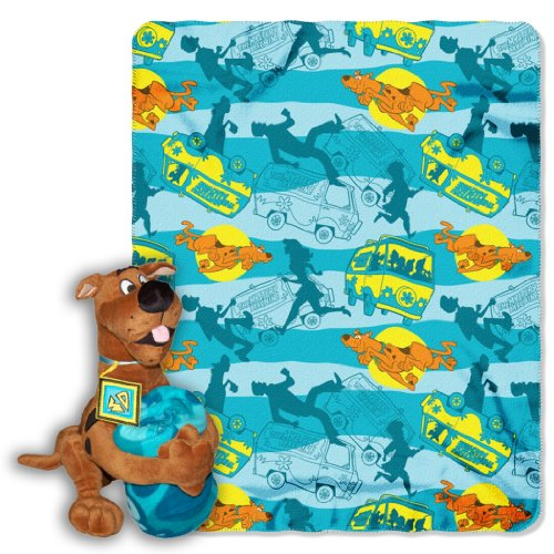 Cheapest Prices! Warner Brothers, Scooby-Doo, Scooby Mystery 40-Inch-by-50-Inch Fleece Blanket with ...