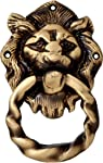 Two Moustaches Two Moustaches Brass Lion Mouth Door Knocker Moulded Ring
