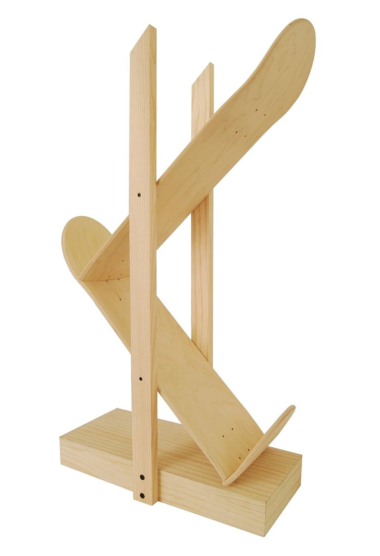 Regale Backflip 2.0, natürliche Farbe. Tisch mit Ahornholz Skateboard gemacht. Designermöbel für Wohnzimmer. jetzt bestellen