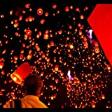 Bio Degradable Chinese Flying Sky Lanterns Birthday Wedding Party Celebrations Floating (50)