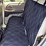 """Parachute Pet Products Non-Slip Backing Wide Bench Car Seat Protector. Machine Washable & A Lifelong Promise. Black/Grey, 57""""L x 55""""W"""