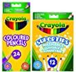 Crayola Bundles 24-Pencils and 12-Markers Pack