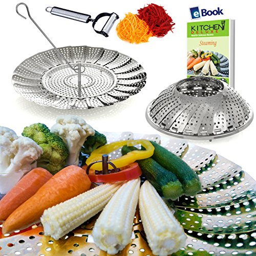 Kitchen Deluxe Vegetable Steamer Basket - 5.5-9.3