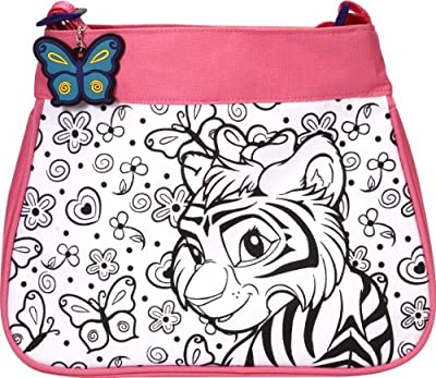 Wild Republic Color Your Own Fashion Bag Africa (Pink)
