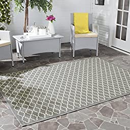 Safavieh Courtyard Collection CY6919-246 Anthracite and Beige Indoor/ Outdoor Runner, 2 feet 3 inches by 8 feet (2\'3\