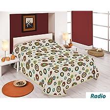 SABANALIA - Colcha estampada Radio (Disponible en varios tamaños) - Cama 105